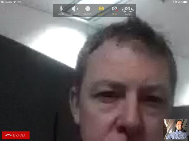 using bria on a plane