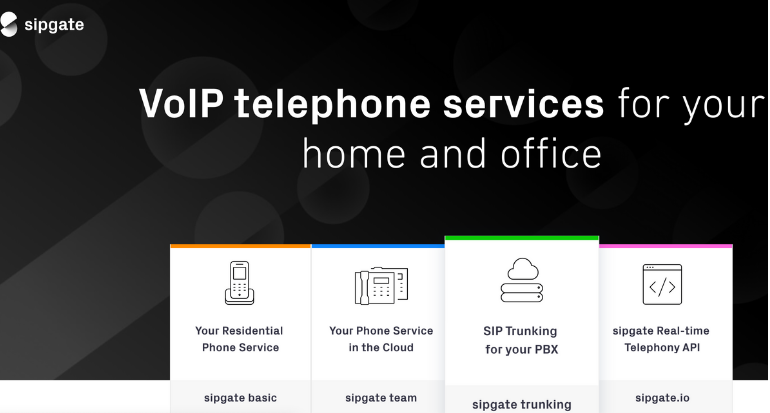 SipGate - VoIP telephone services