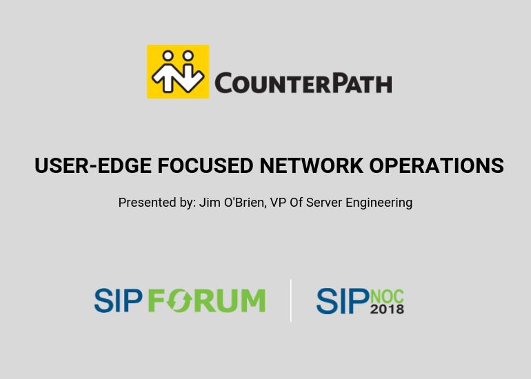 Counterpath at SIPNOC 2018
