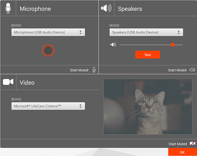 Our new device selection interface allows for easy interactions