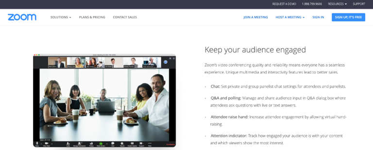 Zoom offers video conferencing options