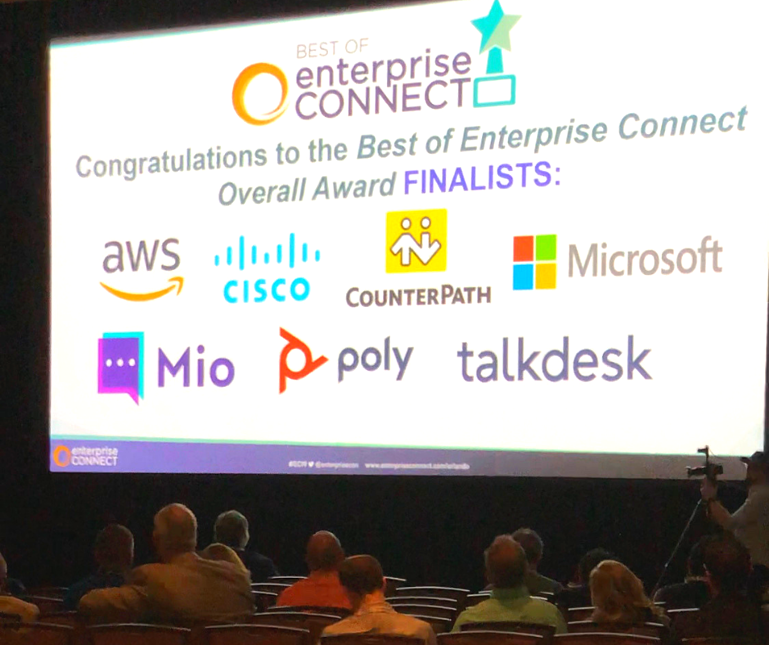 We were one of the 7 finalists for Best Of Enterprise Connect Award 2019